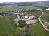 letecký pohled na areál školy